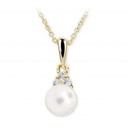 Colgante de oro amarillo con perla Danfil C2235